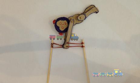 Homemade toys Funny Swinging Monkey 4