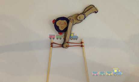 Funny Swinging Monkey homemade toy