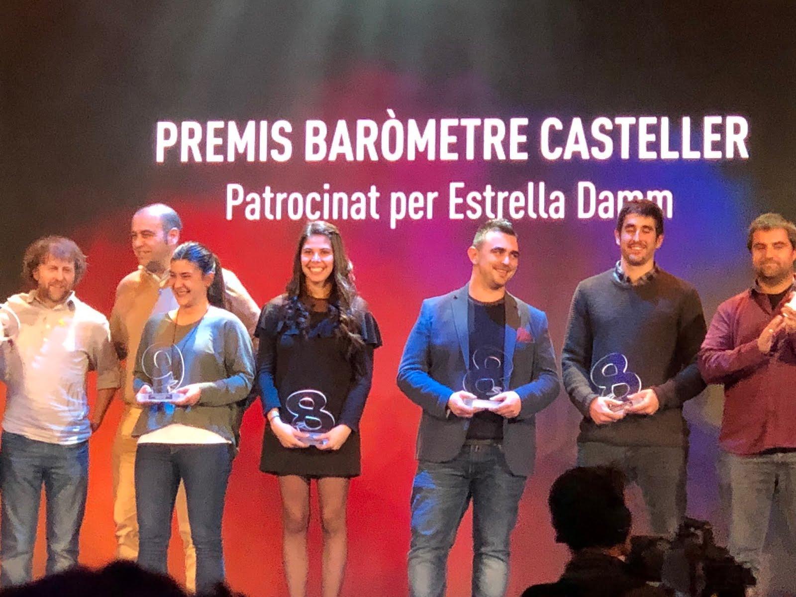 6 colles premiades a la #NitDeCastells amb el Premi Baròmetre 2017
