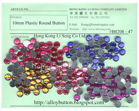 Fashion Plastic Beading Button Supplier - Hong Kong Li Seng Co Ltd
