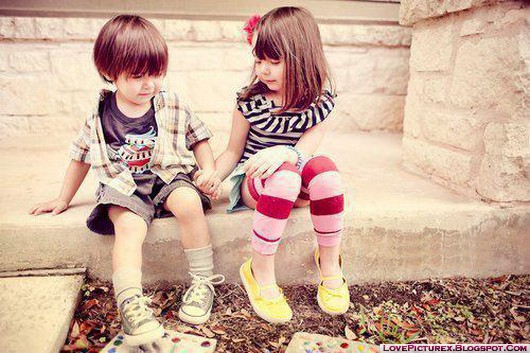 Cute Boy and Girl Kids Image