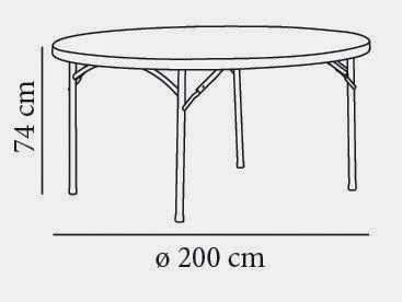 alquiler de mesas redondas en granada