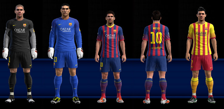 Download fc barcelona 13 14 kit set gdb by nemanja
