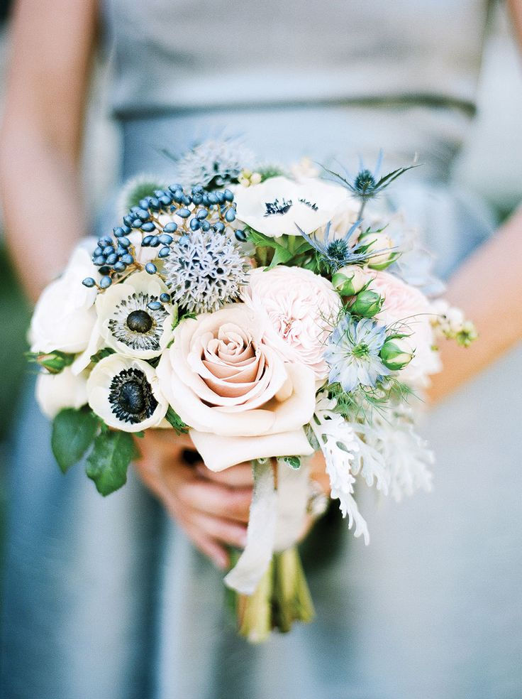 Pink Blue And White Wedding Bouquets : Calgary wedding top colors for spring