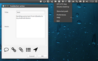 Pushbullet Ubuntu indicator