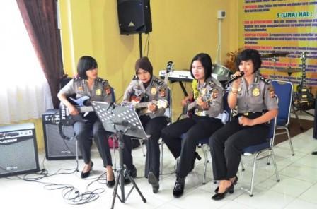 Polwan se-Wilayah Tiga Cirebon Kumpul di Polres Cirebon