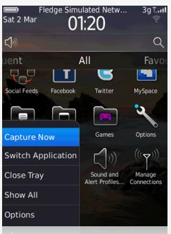 تطبيق مجاني لإلتقاط صورة الشاشة لهواتف بلاك بيري Capture It Free 1.6