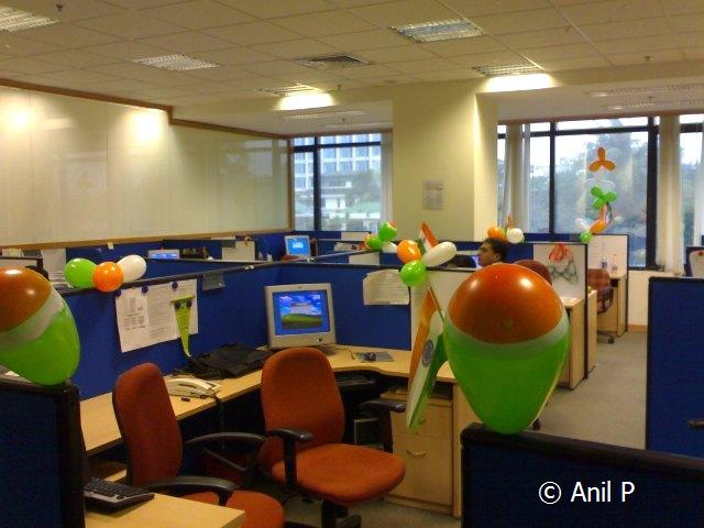 Office decorating ideas for independence day type for Bay decoration in office