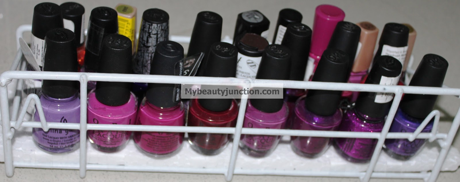 DIY Nail polish storage ideas