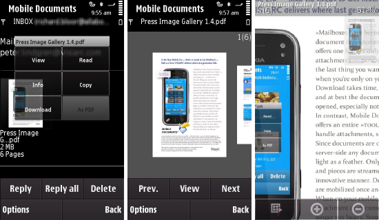 The Mobile Documents viewer