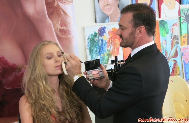 Laura Mercier Spring 2015 Colour Story, Watercolour Clouds Look, Laura Mercier Spring 2015, makeup, spring 2015 look, Benjamin Ruiz, Laura Mercier Global Makeup Artist