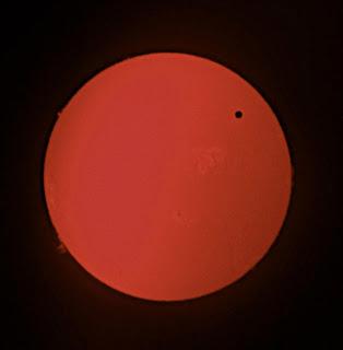 The 2012 transit of Venus seen in hydrogen alpha light