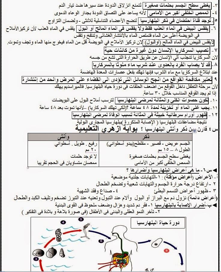 المراجعة النهائية احياء اول ثانوي علمي