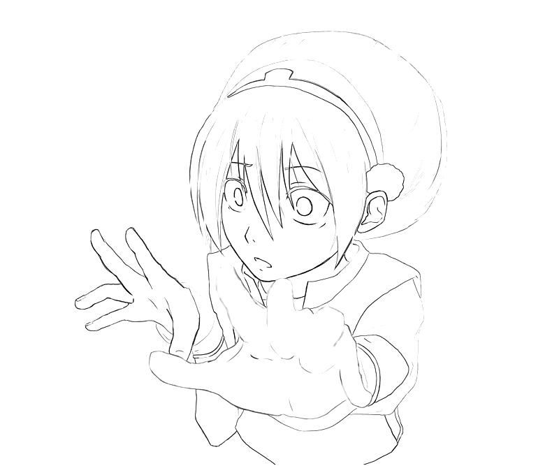 avatar-toph-action-coloring-pages