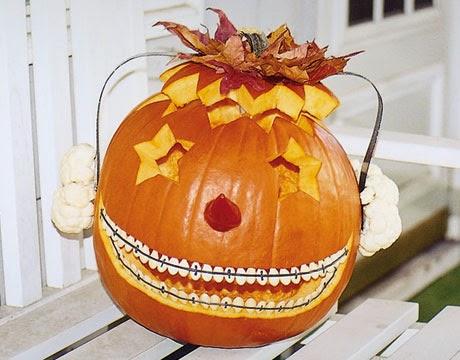 Funny Braces Pumpkin
