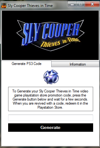 Sly cooper thieves in time free dlc code generator free gaming