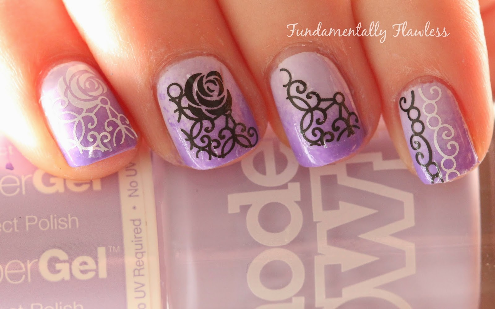 Models Own Lilac Sheen and Born Pretty Store Water Decals