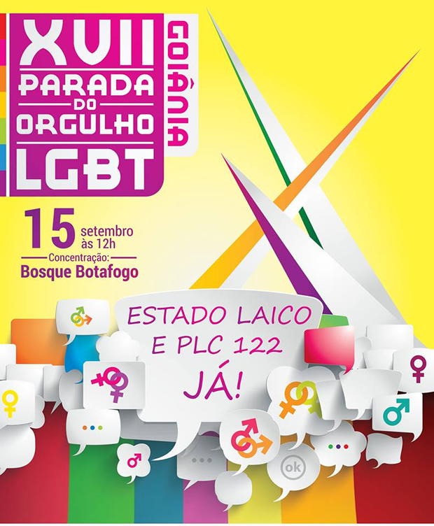 Por 'Estado Laico e PLC 122 Já!' Goiânia realiza parada em setembro