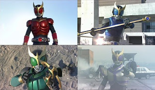 The various forms of Kamen Rider Kuuga