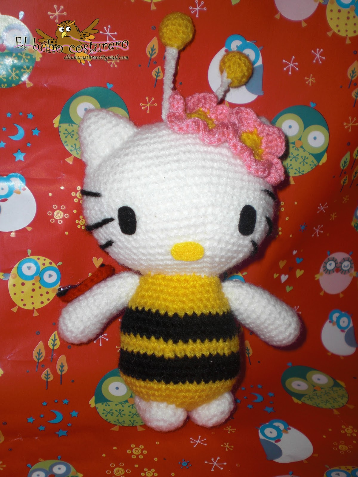 Kitty Abeja Amigurumi : El b?ho costurero: Amigurumi Hello Kitty