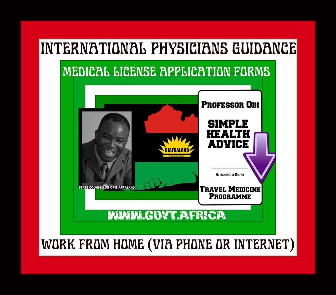 International Medical Doctors License | Professor Obi