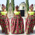 Lovely Ankara Style Lengthy Floor Pleat High Waist Skirt
