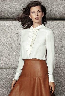 moda otoño El Corte Inglés falda similpiel camisa
