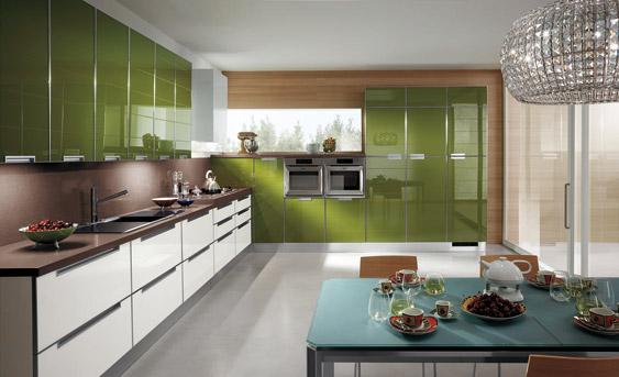 Dise o de cocinas con puertas en cristal - Cristal para cocina ...