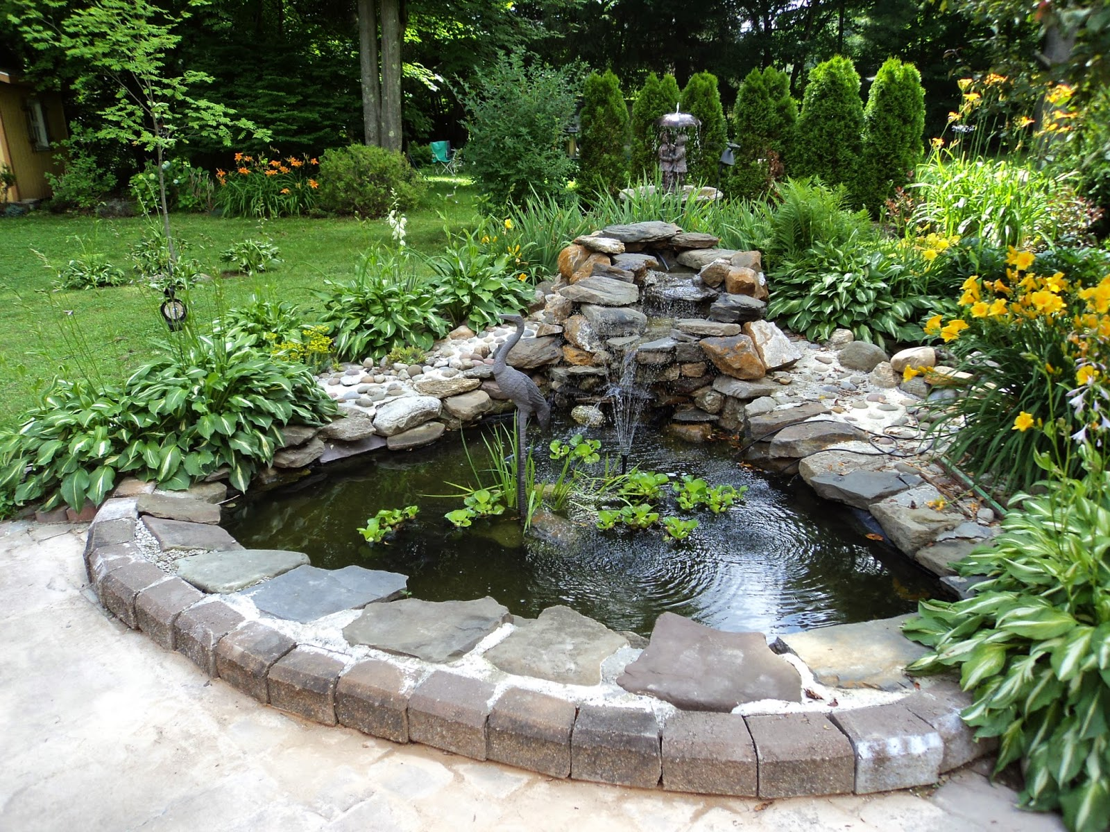 Backyard and pond project redo it yourself inspirations for Concrete garden pond