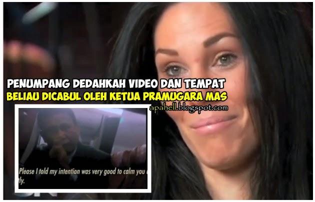 Penumpang Dedah Rakaman Ketua Pramugara MAS Merayu Selepas Mencabulnya (3 Gambar)