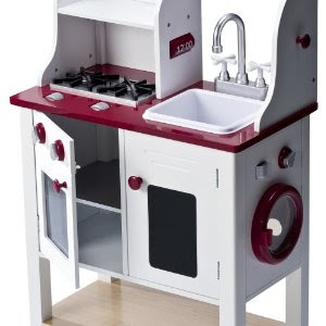 This Playwonder Wooden Kitchen Center Interactive Cooking A Very Hy With Your New Playset Nice Clic Wood