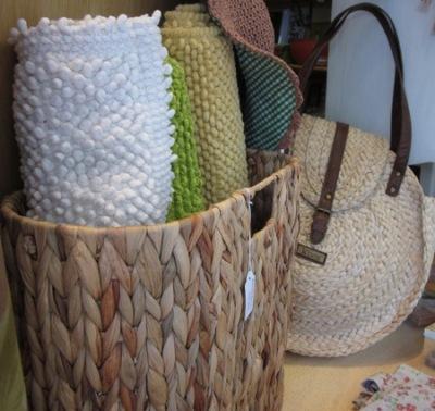 Revistero y bolso fibra vegetal