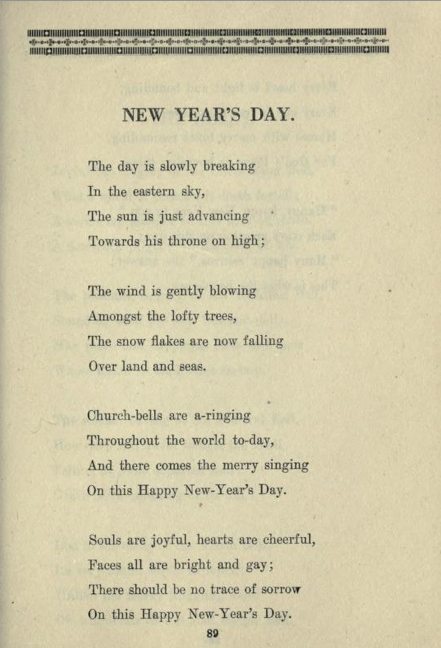 The Dusty Bookcase: Immature Verse for a New Year