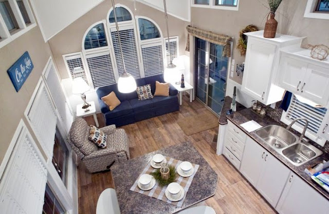 Tiny House open floor plan :: OrganizingMadeFun.com