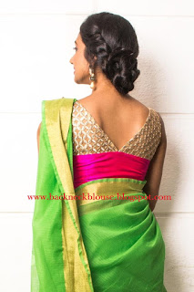GOLD WITH PINK COLOUR BLOUSE