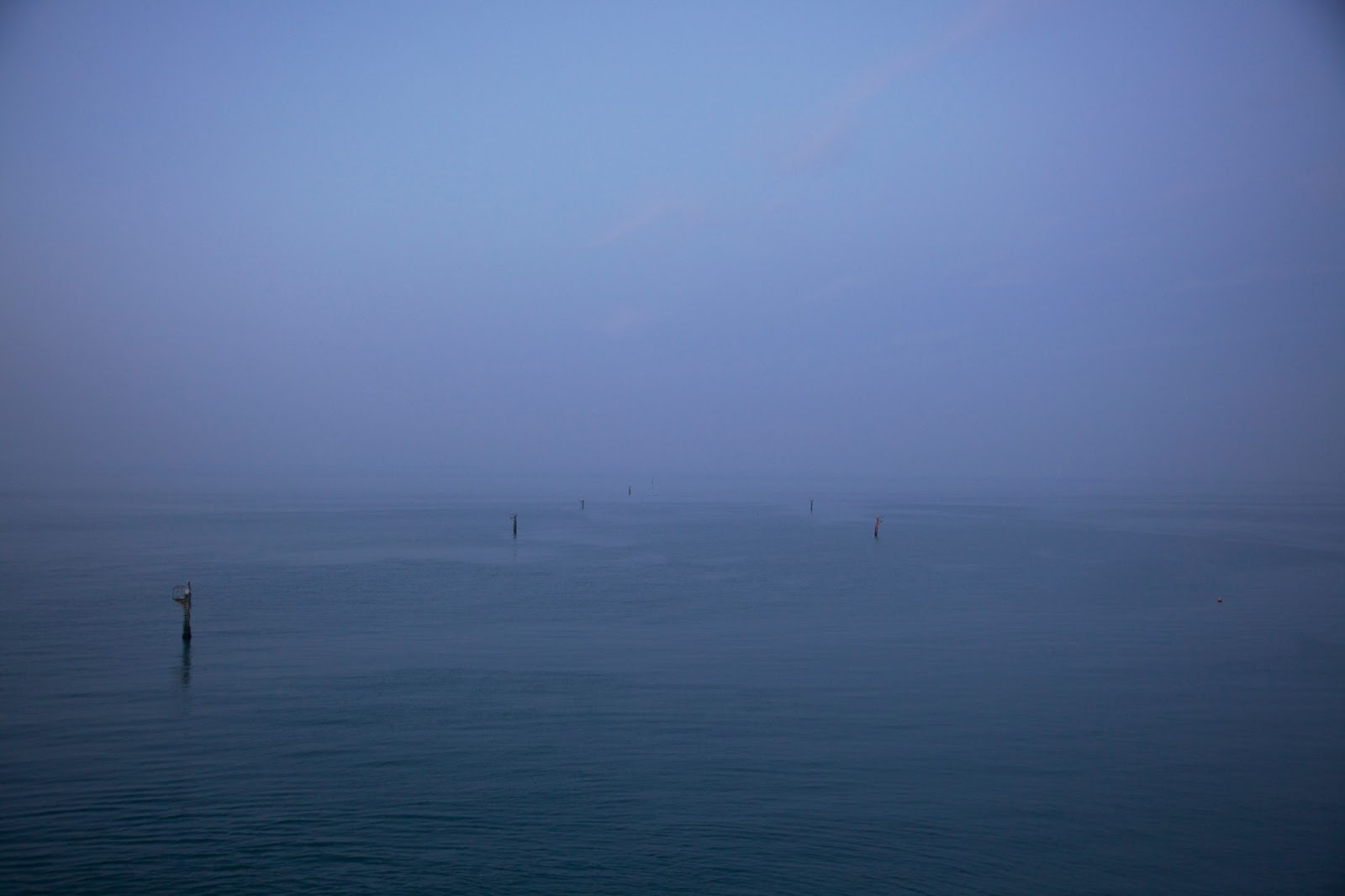 Photograph, Chris Steele-Perkins: G.B. Isle of Wight. Leaving Fishbourne on the car ferry to Portsmouth.