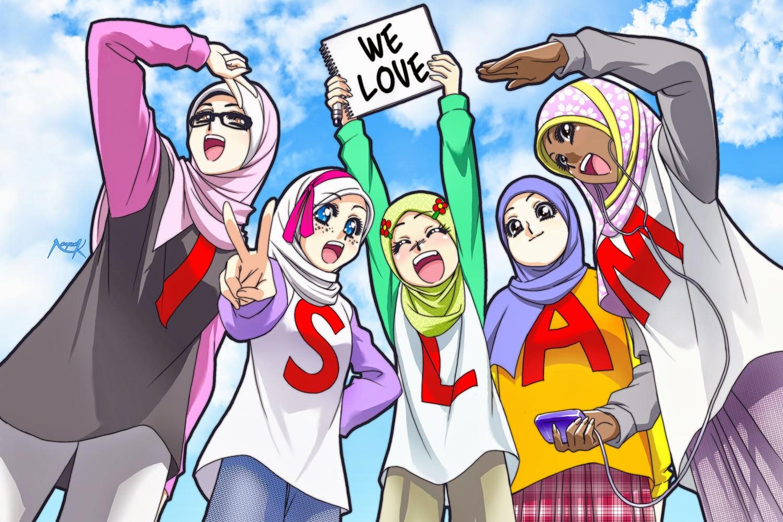 gambar animasi keren  gambar kartun sekolah islami untuk anak