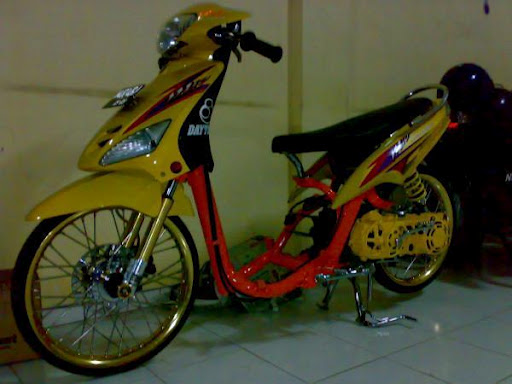 Foto Modifikasi motor drag mio