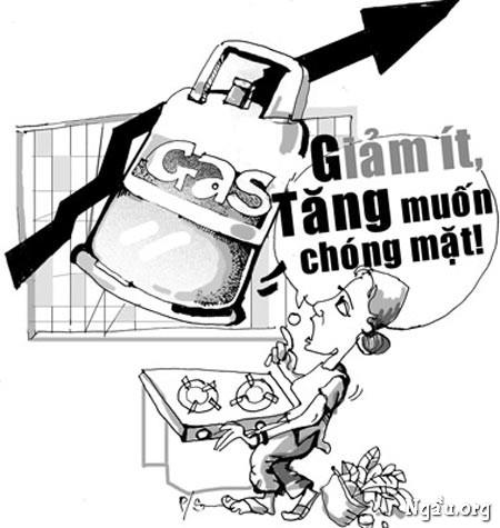 Biếm họa: Gas giảm ít, tăng chống mặt