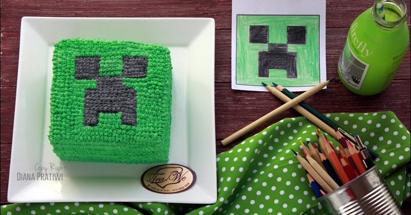 Minecraft Creeper Cake Decoration