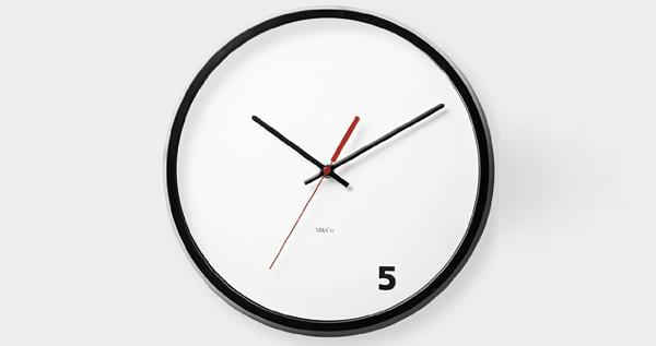 Moma 5 O'Clock Wall Clock