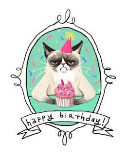 Grumpy Cat Happy Birthday Anniversaire blog Humeurs Humour