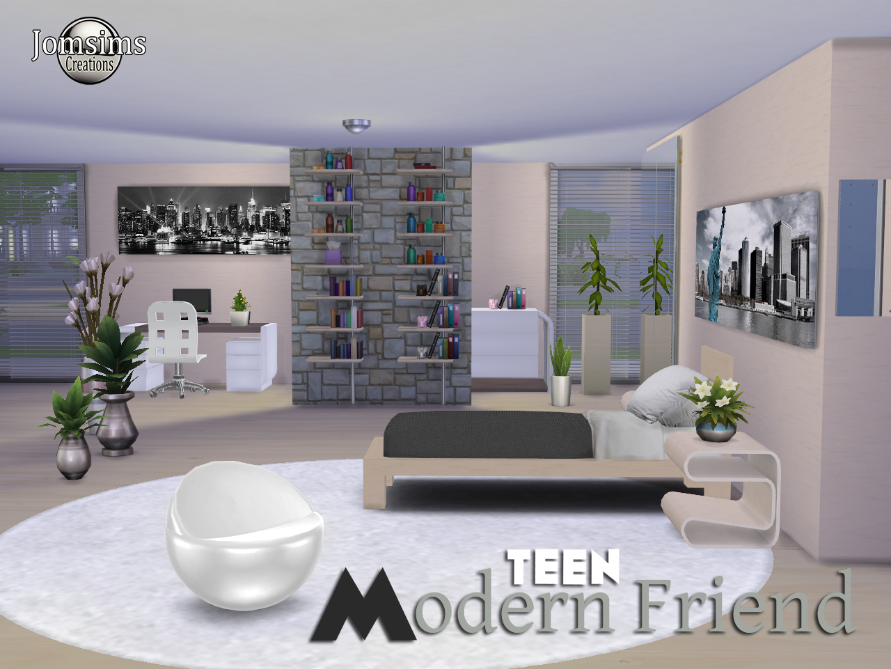 Jomsimscreations blog: hello friends a new bedroom sims 4 teen ...