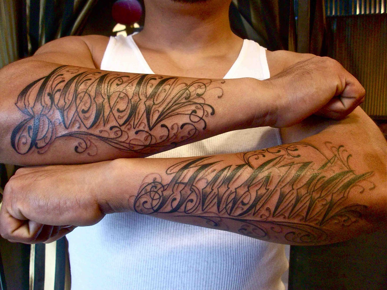 script tattoos3d tattoos. Black Bedroom Furniture Sets. Home Design Ideas
