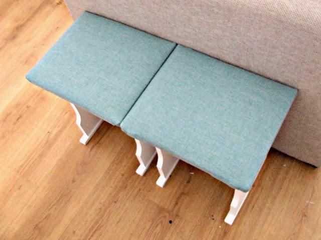 metamorfoza taboretów czyli pomysł na stare krzesła