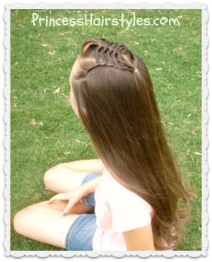 braided half up hairstyle with pompadour