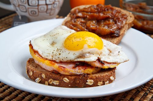 Peameal Bacon Breakfast Sandwich with Maple Caramelized ...