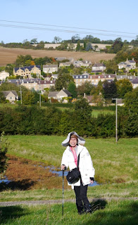 Yee walking out of Blockley on the Classic Cotswold Walking Tour