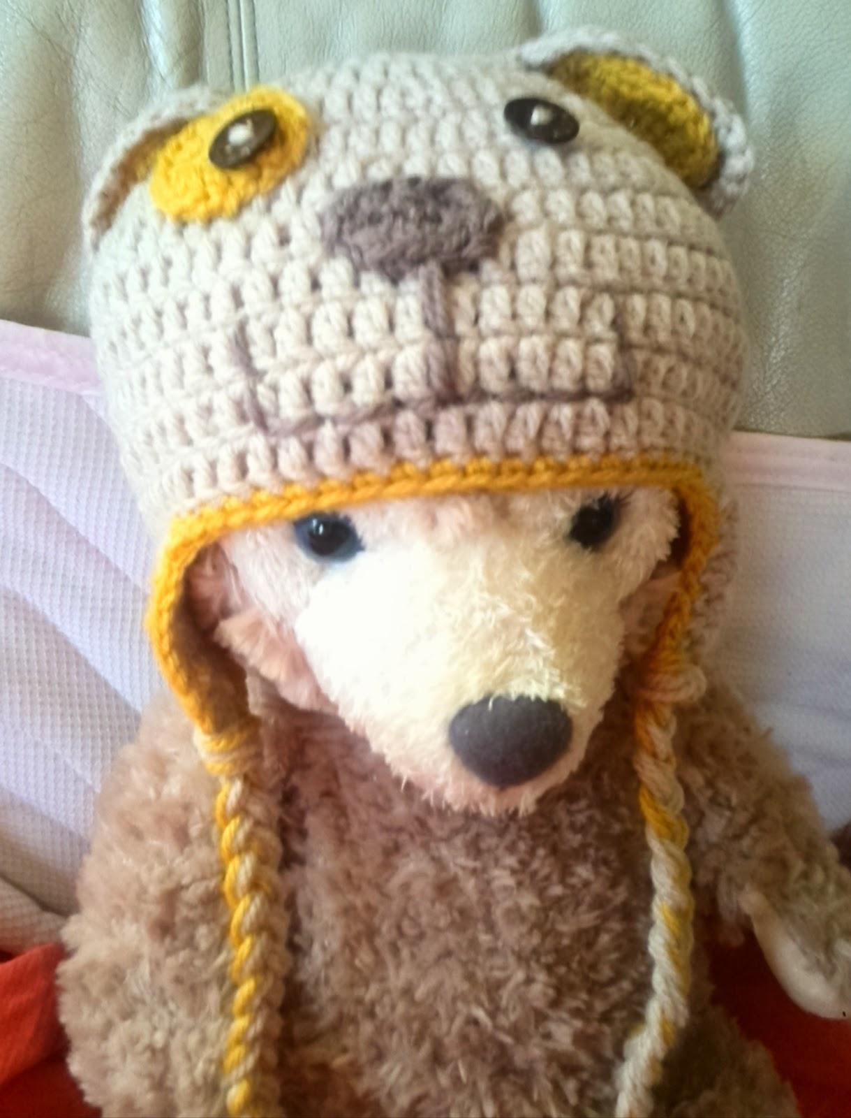 ベビー用犬の帽子の編み方