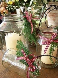 10 rustic christmas decorating ideas lilacs and for Christmas table decorations using mason jars